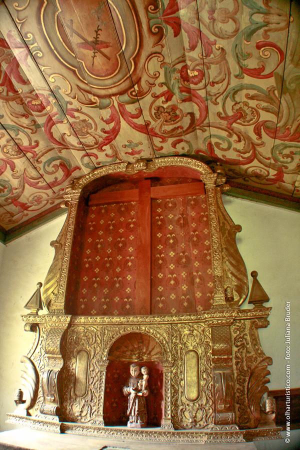 Altar do Sítio santo Antonio em São Roque, que era todo revestido com pó de ouro.